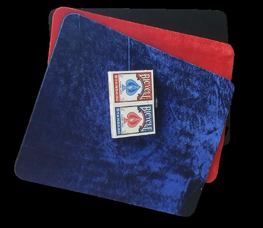 Tapete aveludado portátil para cartas de baralho B+