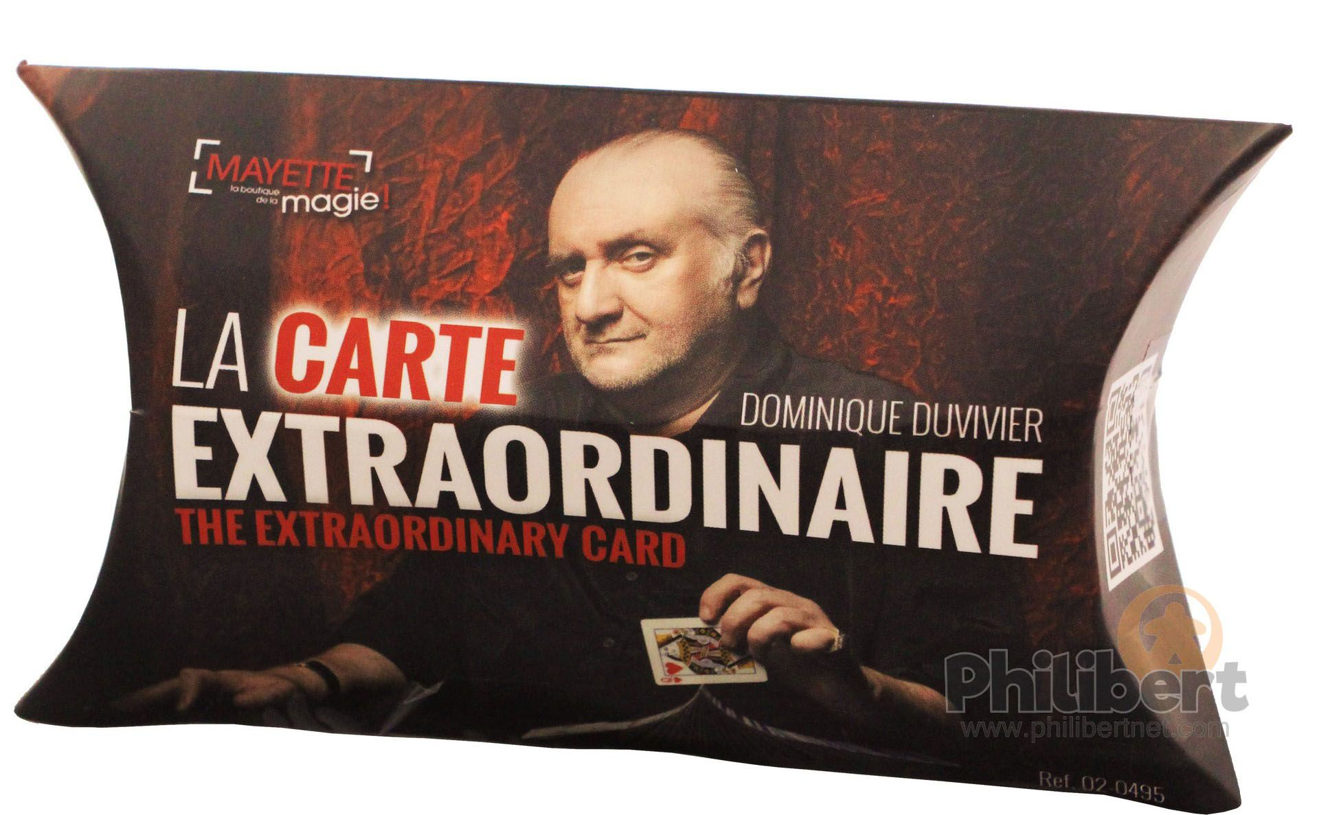 The extraordinary card by Dominique Duvivier
