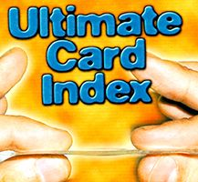 classificador de cartas para mentalistas - Ultimate Card Index (The Thinnest in The World). F+