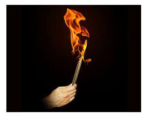 Vanishing lit torch bazar de magia