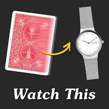 Watch This - carta se transforma  em reloj