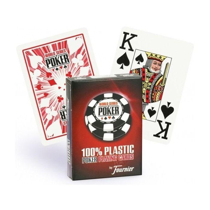 World Serie Poker 100% Plástico Fournier - Azul e Vermelho M+