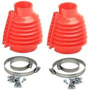 Coifa para semi-eixo em silicone - Par - Vermelha - VW/AR - Empi