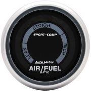 """Instrumento Medir Mistura Ar X Combustível (Hallmeter) - 2"""" 1/16"""" - Sport Comp - AUTO METER"""