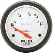 "Instrumento Medir Nível Combustível Ford / Chrysler - (70 Ω E / 8-12 Ω F) - Elétrico - 2 5/8"" - Phantom - AUTO METER"