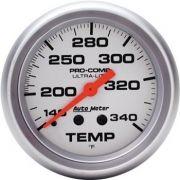 "Instrumento Medir Temperatura 140º - 340º F - Mecânico - 2"" 5/8"" - Ultra-Lite - 8 Ft. - AUTO METER"
