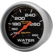"""Instrumento Medir Temperatura Água 140º - 280º F - Mecânico - 2"""" 5/8"""" - Pro-Comp com Liquido - 6 Ft. - AUTO METER"""