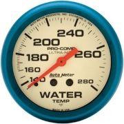 "Instrumento Medir Temperatura Água 140º - 280º F - Mecânico - 2"" 5/8"" - Ultra-Nite - 6 Ft. (Fosforescente) - AUTO METER"