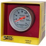 "Instrumento Medir Temperatura Gases Escape 0º - 1600º F - Elétrico -2 5/8"" - Ultra-Lite - AUTO METER"