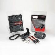 Kit de Travas para Capô - Com Chave - Carbon Look - AEROCATCH