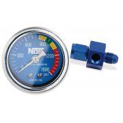 """Manômetro para pressão de nitro - 1,5"""" - 4AN - Azul - NOS"""