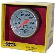 "Manômetro Pressão Água 0 - 35 PSI - Mecânico - 2 5/8"" - Ultra-Lite - 6 Ft. - AUTO METER"