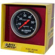 "Manômetro Pressão Blower 0 - 60 PSI - Mecânico - 2"" 5/8"" - Sport Comp - AUTO METER"