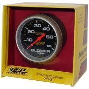 """Manômetro Pressão Blower com Memória - 0 - 60 PSI - 2"""" 5/8"""" - Pro-Comp com Líquido - AUTO METER"""