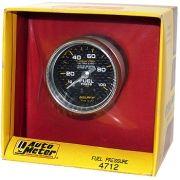 "Manômetro Pressão Combustível 0 - 100 PSI - Mecânico - 2"" 1/16"" - Carbon Fiber - AUTO METER"