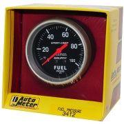 "Manômetro Pressão Combustível 0 - 100 PSI - Mecânico - 2 5/8"" - Sport Comp - AUTO METER"