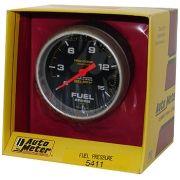 """Manômetro Pressão Combustível 0 - 15 PSI - Mecânico - 2"""" 5/8"""" - Pro-Comp com Líquido - AUTO METER"""
