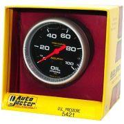 """Manômetro Pressão de Óleo 0 - 100 PSI - Mecânico - 2"""" 5/8""""- Pro-Comp Com Líquido - AUTO METER"""