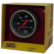 "Manômetro Pressão de Óleo 0 - 100 PSI - Mecânico - 2"" 5/8"" - Sport Comp - AUTO METER"