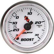 """Manômetro Pressão Turbo-Vácuo 0 - 30 PSI - Elétrico - 2"""" 1/16"""" - C2 - AUTO METER"""