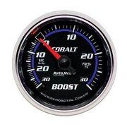 "Manômetro Pressão Turbo-Vácuo 0-30 PSI - Mecânico - 2"" 1/16"" - Cobalt - AUTO METER"