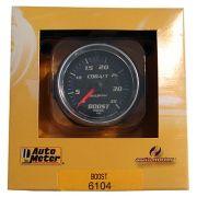 "Manômetro Pressão Turbo-Vácuo 0-35 PSI - Mecânico - 2"" 1/16"" - Cobalt - AUTO METER"