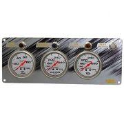 Painel com 3 Instrumentos (Pressão de Óleo e Temperatura de Água e Óleo) com Alertas - Pro Comp Ultra Lite 2