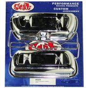 Tampa de Válvulas Par Aço Cromado para VW/AR - Fixação Presilhas - SCAT