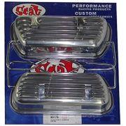 Tampa de Válvulas Par Alumínio para VW/AR - Fixação Presilhas - SCAT
