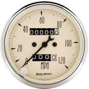 "Velocímetro 120 Mph - Mecânico - 3"" 1/8 - Antique Beige - AUTO METER"