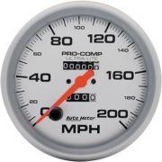 "Velocímetro 200 MPH - Mecânico - 5"" - Ultra-Lite - AUTO METER"