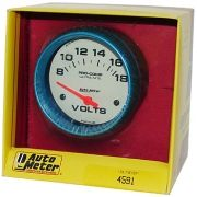 "Voltímetro - 8-18 Volts - Elétrico - 2"" 5/8"" - Ultra-Nite (Fosforescente) - AUTO METER"