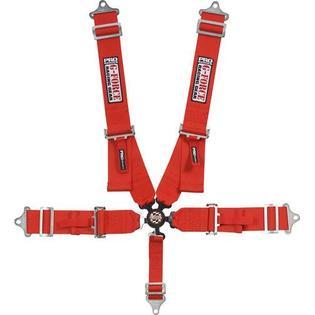Cinto de Segurança 5 Pontas Fixação Individual Engate Automático Vermelho - G-FORCE  - PRO-1 Serious Performance