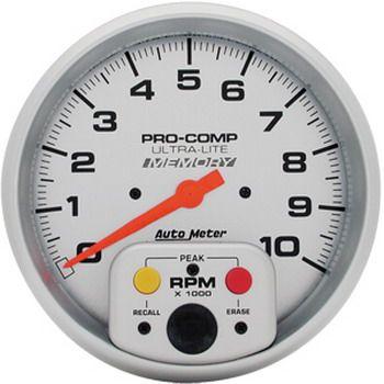 "Contagiros 10.000 Rpm c/ Memória - Elétrico - 5"" - Ultra-Lite - AUTO METER  - PRO-1 Serious Performance"