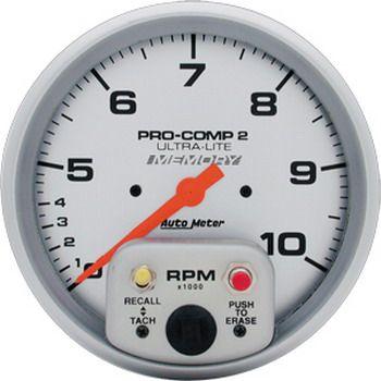 """Contagiros 10.000 Rpm com Memória - 2 Escalas - Elétrico - 5"""" - Ultra-Lite - AUTO METER  - PRO-1 Serious Performance"""