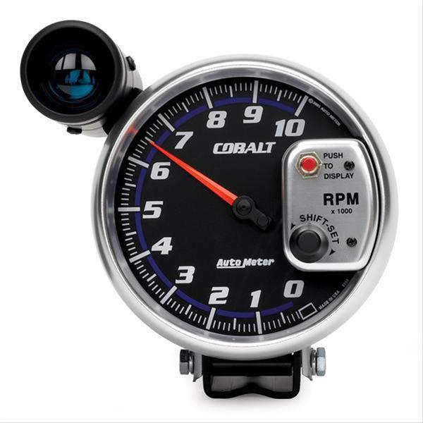 """Contagiros 10.000 Rpm com Shift-Lite Grande - Elétrico - 5"""" - Cobalt - AUTO METER  - PRO-1 Serious Performance"""