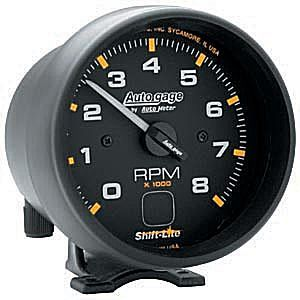 "Contagiros 8.000 RPM Shift Lite Interno Elétrico 3 3/4"" Auto Gage - AUTO METER  - PRO-1 Serious Performance"