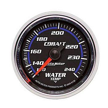 "Instrumento de Medir Temperatura de Água 140º - 240º F -  Mecânico - 2"" 1/16"" - Cobalt - 6 Ft - AUTO METER  - PRO-1 Serious Performance"