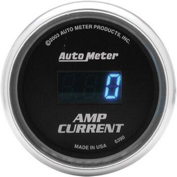 "Instrumento Medir Amperagem Sistema Som 0 - 250 Amps - Digital - 2 1/16"" - Cobalt - AUTO METER  - PRO-1 Serious Performance"