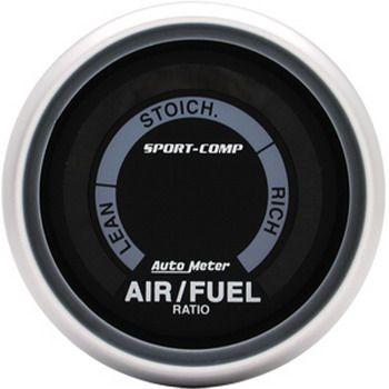 """Instrumento Medir Mistura Ar X Combustível (Hallmeter) - 2"""" 1/16"""" - Sport Comp - AUTO METER  - PRO-1 Serious Performance"""