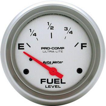 "Instrumento Medir Nível Combustível - (240 Ω E / 33 Ω F) - Elétrico - 2 5/8"" - Ultra-Lite - AUTO METER  - PRO-1 Serious Performance"