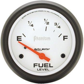 "Instrumento Medir Nível Combustível Ford / Chrysler - (70 Ω E / 8-12 Ω F) - Elétrico - 2 5/8"" - Phantom - AUTO METER  - PRO-1 Serious Performance"