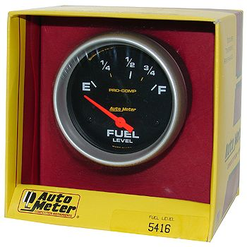 "Instrumento Medir Nível Combustível Ford/Mopar - (73 Ω E / 8-12 Ω F) - Elétrico - 2"" 5/8"" - Pro-Comp - AUTO METER  - PRO-1 Serious Performance"