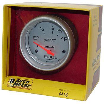 "Instrumento Medir Nível Combustível Ford/Mopar - (73 Ω E / 8-12 Ω F) - Elétrico - 2"" 5/8"" - Ultra-Lite - AUTO METER  - PRO-1 Serious Performance"
