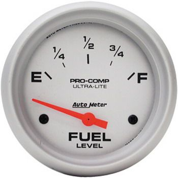 "Instrumento Medir Nível Combustível GM - (0 Ω E / 90 Ω F) - Elétrico - 2 5/8"" - Ultra-Lite - AUTO METER  - PRO-1 Serious Performance"