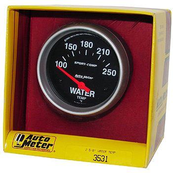 "Instrumento Medir Temperatura Água 100 - 250 F - Elétrico - 2 5/8"" - Sport Comp - AUTO METER  - PRO-1 Serious Performance"
