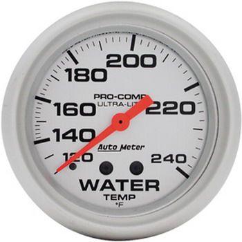 "Instrumento Medir Temperatura Água 120º  - 240º  F - Mecânico - 2"" 5/8"" - Ultra-Lite - 6 Ft. - AUTO METER  - PRO-1 Serious Performance"