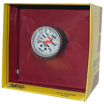 "Instrumento Medir Temperatura água 140º  - 280º  F - Mecânico - 2 1/16"" - Lunar - AUTO METER  - PRO-1 Serious Performance"