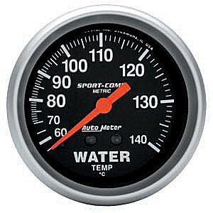 Instrumento Medir Temperatura Água 60-140°C Mecânico 2 5/8 Sport Comp - AUTO METER  - PRO-1 Serious Performance