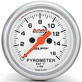 """Instrumento Medir Temperatura Gases Escape 1600ºF com Termopar - Elétrico -2 1/16"""" - Lunar - AUTO METER  - PRO-1 Serious Performance"""
